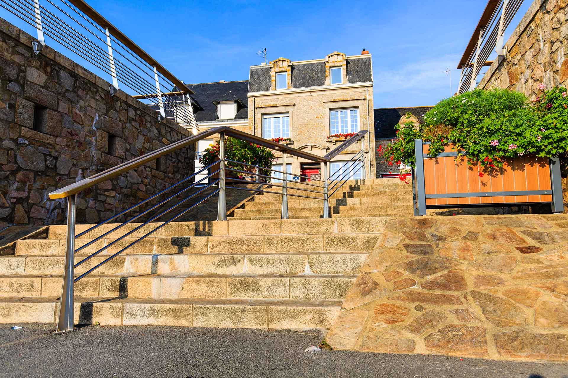 Garde corps et rampe d'escalier ville de la turballe